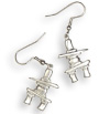 Beautiful and exquisite Inukshuk Earrings barrette!